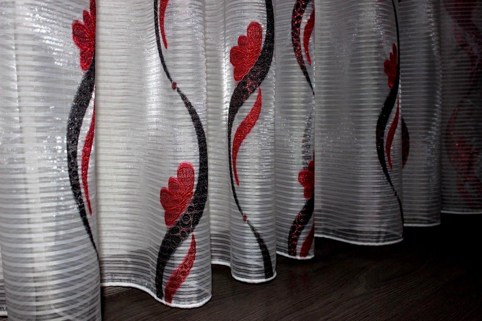 Wunderschöne Fertiggardine, Vorhang, Stoff, Stoff, Stoff, Breite ca. 500 cm, Höhe ca. 245 cm | Modernes Design  0409a1
