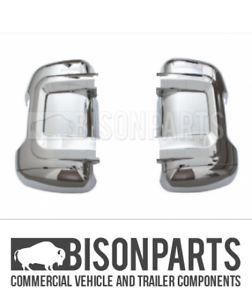 *FITS PEUGEOT BOXER RELAY 2006-2014 CHROME MIRROR BACK COVERS PAIR BP116-266//267