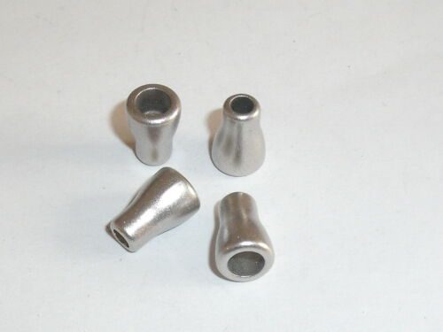 4 trozo de cordel extremos de metal extremo 12x8 mm plata nuevo inoxidable 0540