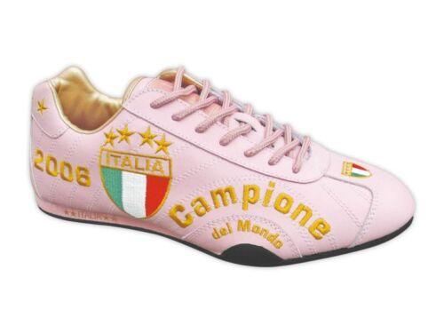 41 WM  SCHUHE  LEDER  NEU  ROSA Fan Artikel Gr SPOOKS  ITALIEN  CAMPIONE  EM