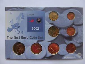 The-First-Euro-Coin-Set-Austria-2002-2-1-50-20-10-5-2-1-EU-Rare-UNC-Lot-Free