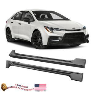 Fits 2020-2021 Toyota Corolla Sedan Roof Spoiler Matte Black Polypropylene