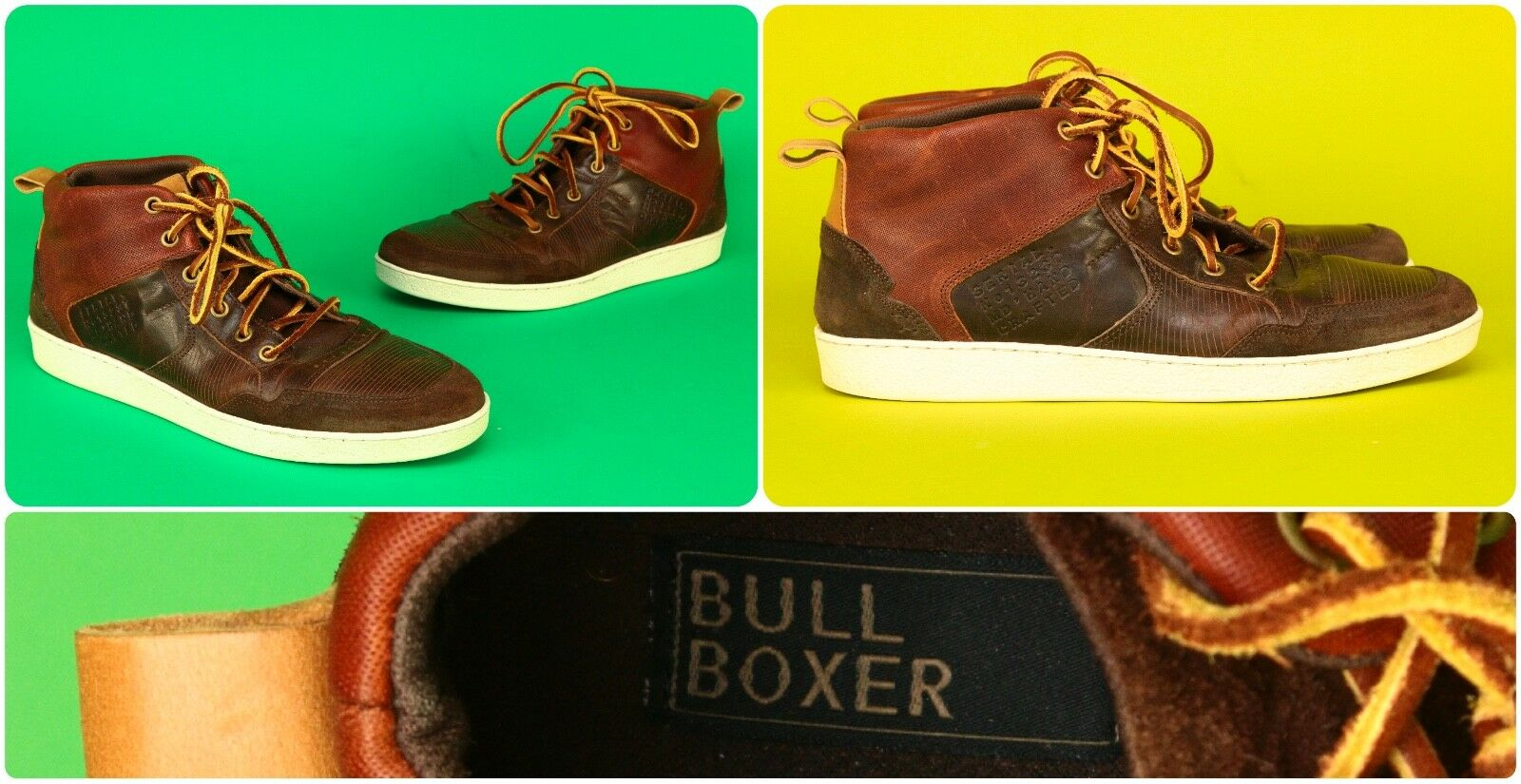 Bull Boxer Men's Sz 10 Leather   Leather shoes   Sneakers - Fast Ship