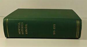 MEMOIRE-HISTORIQUE-ESPAGNOLE-2-TOMOS-EN-1-VOLUME-IMP-NATIONAL-MADRID-1862