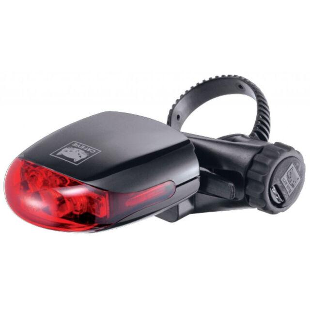 Faretto faro luce posteriore 3 LED originale Cat Eye per bici bicicletta ROSSO