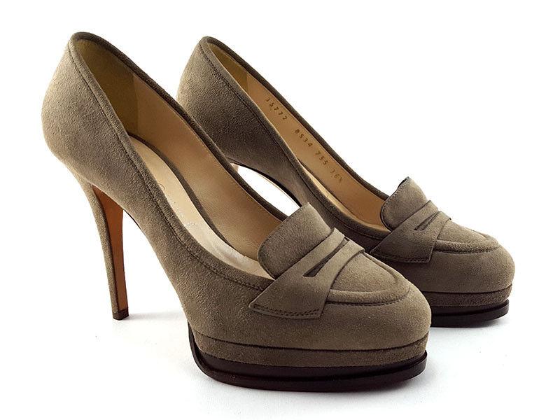 Nuova lista Casadei Beige Beige Beige Suede Platform Pumps, Donna  scarpe Dimensione US 6.5 EU36.5  liquidazione
