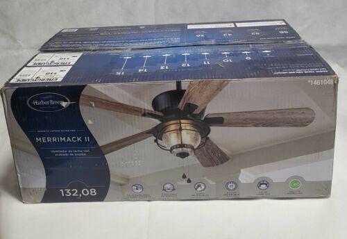 """Harbor Breeze Merrimack II 52/"""" Matte Bronze Indoor//Outdoor Ceiling Fan NO GLASS!"""
