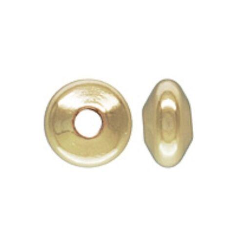 14k Gold Filled 3.6x2mm Saucer Spacer Beads 10pcs #6110-1