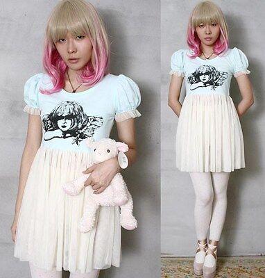Japan Harajuku Victorian Angel Cutie Gyaru Fairy Tale Dolly Jersey+Tulle Cover