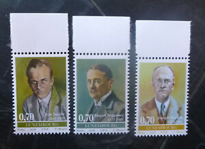 2016-LUXEMBOURG-PERSONALITIES-SET-OF-3-MINT-STAMPS-MNH