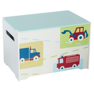 Spielzeugbox mit Griff aus Holz Fahrzeug Feuerwehr Kiste Box Aufbewahrungsbox | eBay
