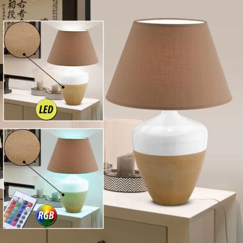 RGB LED Textil Tisch Lampen Wohn Zimmer  RGB Dimmer Fernbedienung Lese Leuchten
