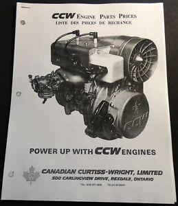 Details about VINTAGE 1972 SNOWMOBILE CCW ENGINE PARTS LIST MANUAL COPY