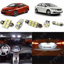 8x Premium White LED lights interior package kit for 2013 & up Honda Civic HC2W