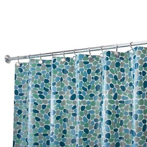 InterDesign 28081 Blue River Rock Shower Curtain