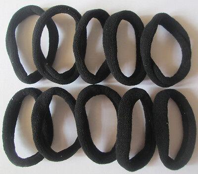 BLACK 10pcs Girls elastic hair ties band rope ponytail bracelets scrunchie #8009
