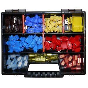 Set m voll isolierten Flachsteckern 6,3x0,8 Sortimentskasten Industrie KFZ LKW