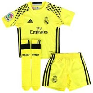 finest selection 3c714 c395e Details about Real Madrid Kit Goalkeeper 100% Official Adidas Shirt Shorts  & Socks 3-4 Years