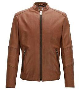 hugo boss jeeper leather jacket