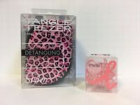 Tangle Teezer Compact Styler Pink Leopard & Invisibobble Pink 3 Pack