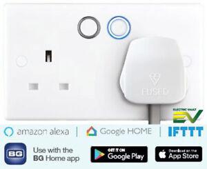 BG Doble Smart Plug Socket-Compatible con Alexa, Google Casa, IFTTT...