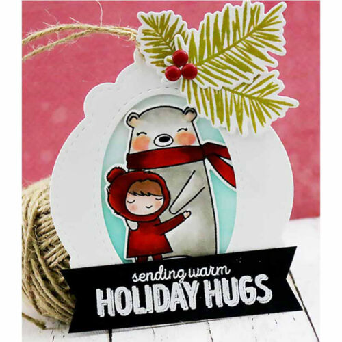 Christmas Cards Tags Frame Metal Cutting Dies Embossing Stencil for Paper VH