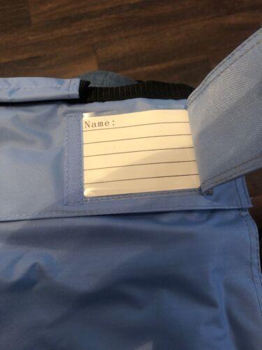 Book Folder Bag Extendable School Shoulder Sky Blue Water Shower Proof New