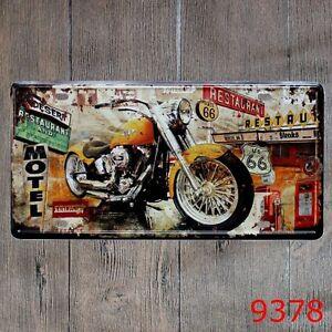 Metal-Tin-Sign-route-66-motel-Decor-Bar-Pub-Home-Vintage-Retro-Poster-Cafe-ART