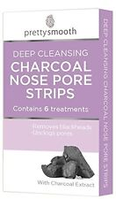 ** PRETTY 6 DEEP CLEANSING CHARCOAL NOSE PORE STRIPS NEW ** QUICK & EASY