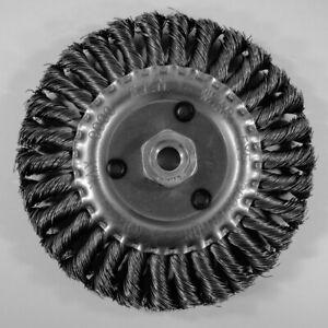 Scheibenb/ürste Drahtb/ürste B/ürste /Ø 150 mm gezopft M14 f/ür Winkelschleifer