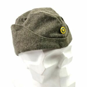 19098740454 WWII Swedish army winter wool side cap military field cap garrison ...