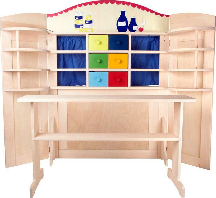 Kaufladen Kasperletheater  ca. 159 x 18 x 121 cm  Holz Rollenspiel Puppenkinder