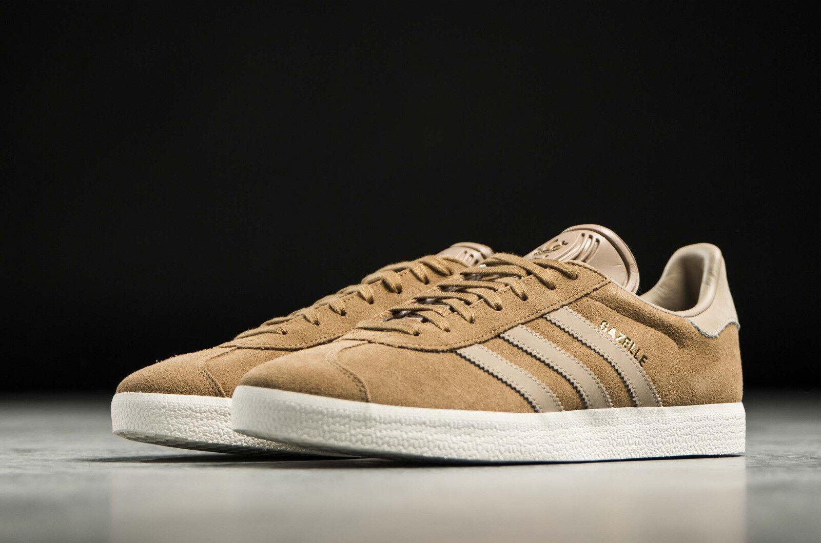 Nwob 13-m Uomo adidas originali gazzella scarpe taglia noi 13-m Nwob cachi 061d77
