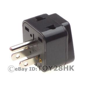 usa canada travel adapter 2 way outlet plug convert eu uk. Black Bedroom Furniture Sets. Home Design Ideas