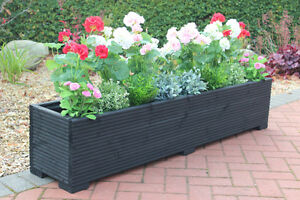 Cm Large Timber Outdoor Planter Wooden Trough