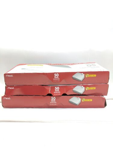 """10 White Envelopes Press /& Seal 4 1//8/"""" x 9 1//2/"""" 50 count Mead No T3 150 total"""