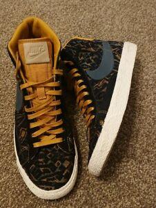 Womens Nike Blazer Mid Gold Suede/Dark Armory Blue 403729-702 Rare Size UK4