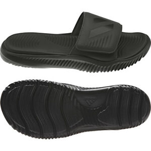 bd2eacec0692f Image is loading Adidas-Mens-Alphabounce-Black-Slides -Athletic-Sport-Sandals-