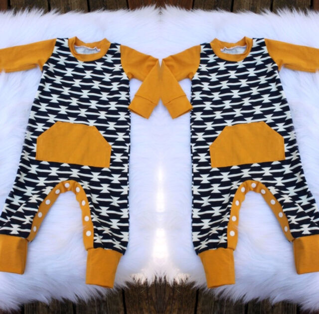 Baby Toddler Boys Casual Harem Romper Bodysuit Jumpsuit Home Outfit Clothes WHM