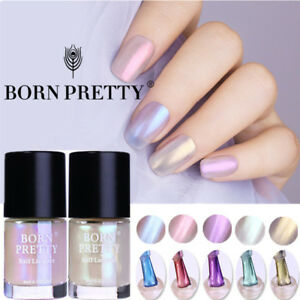 9ml Transparent Shell Nail Polish Glimmer Glitter Nail Art Varnish