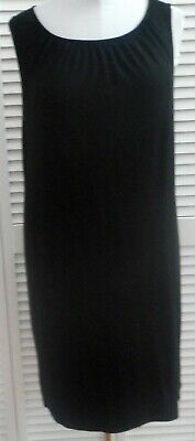 Clothing, Shoes & Accessories Dashing J Jill Shift Dress Size L/14 Black Wear Ever Collection Sleeveless Women's