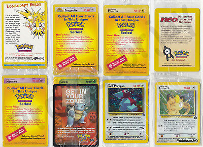 NEW Pokemon Cards Wizards Of The Coast Promos 2,3,4,5 /& Free MEW Out Of Print