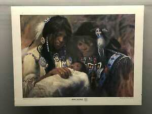 Vintage-Jimmie-Abeita-034-Blessing-Of-A-Future-Chief-034-Art-Poster