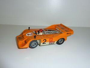 Slotcar Fleischmann Auto Rallye Porsche Can Am Orange Vintage Rennbahn Slot Car