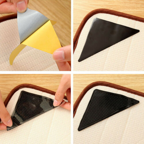 4PCS  Carpet Pad Non Slip Tri Sticker Anti Slip Mat Floor Pads Anti Slip Safety