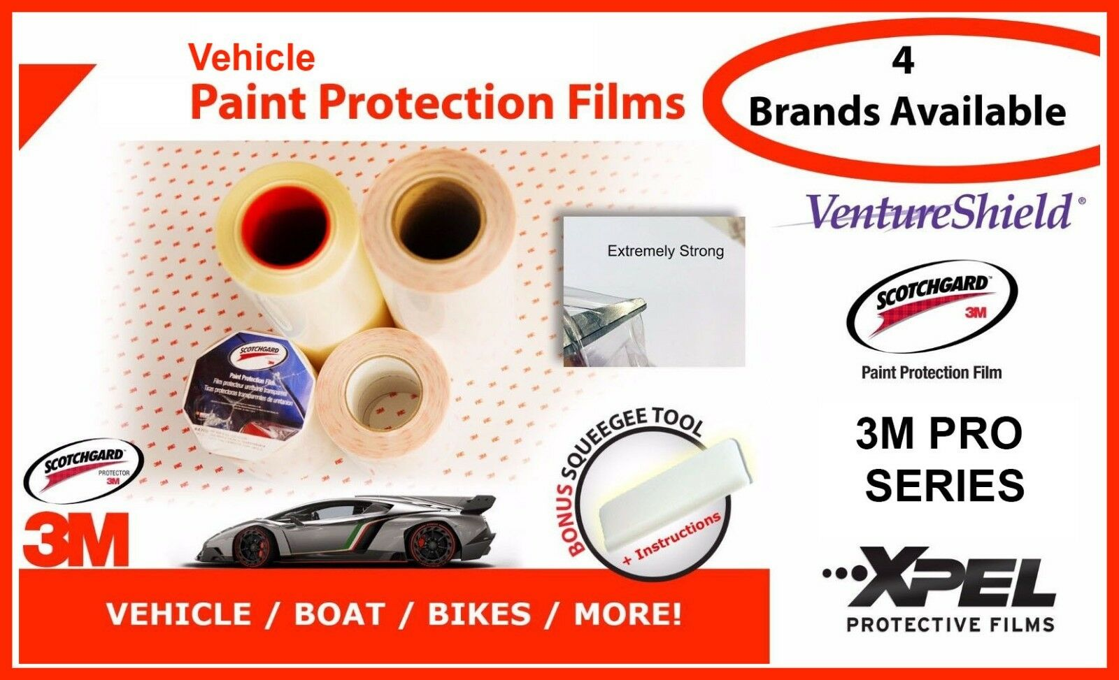 36  Wide Paint Protection Film ( Scotchgard   3M Pro Series   Xpel ) VEHICLE