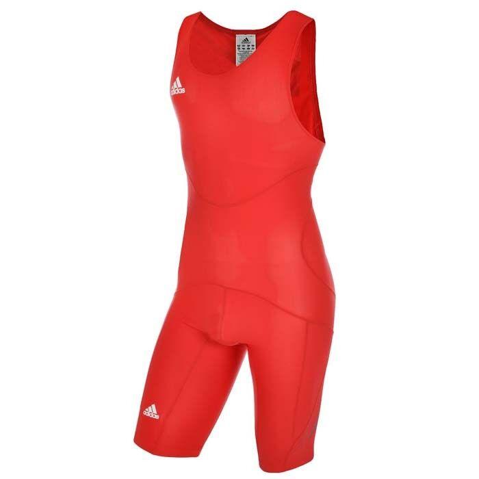 Adidas De Catch Classic Wr Cl Suit Anneaux Ringer Costume Combishort Messieurs Rouge