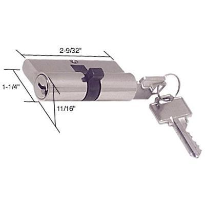 CRL Screen and Storm Door Key Cylinder  Thumb Turn with Kwikset-Weiser Keyway