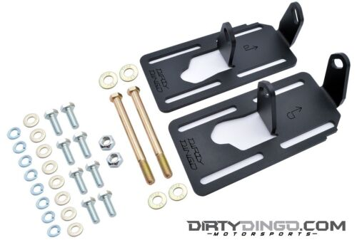 Dirty Dingo Adjustable Engine Swap Mounts LS Swap 91-96 Caprice//Impala Black