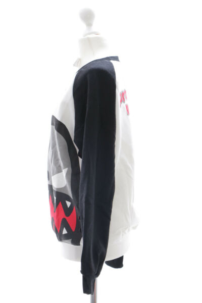 TS-15 schwarz Shark Crazy Monster Hai Zähnen Pullover Sweatshirt Harajuku